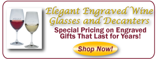 Engraved Wine Glasses Special Sale Pricing